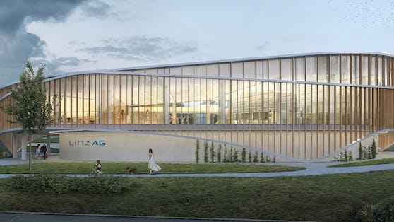 So soll es ausschauen, das neue Hallenbad in Linz-Ebelsberg.