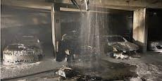 Mehrere Autos brannten in Wiener Tiefgarage