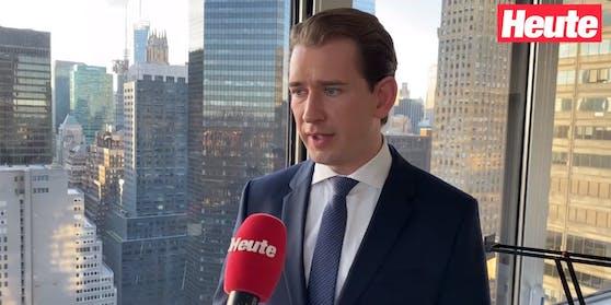 "Bundeskanzler Sebastian Kurz im ""Heute""-Gespräch am Montag."