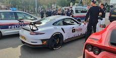 Luxusauto-Lenker flieht vor Polizei, rammt Fußgänger