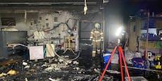 Wäscherei-Brand fordert Einsatz mehrerer Feuerwehren