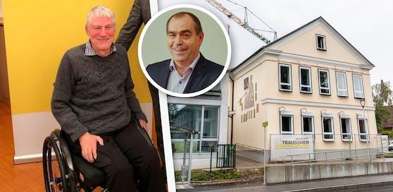 Rund um die Sanierung der Schule gerieten Gerhard Mugrauer (li.) und Bürgermeister Dietmar Kapsamer in Streit.