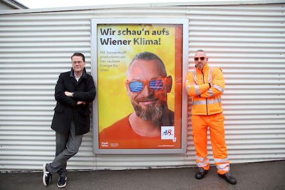 Klimastadtrat Jürgen Czernohorszky (SPÖ, l.) lädt zum Mistfest der MA48.