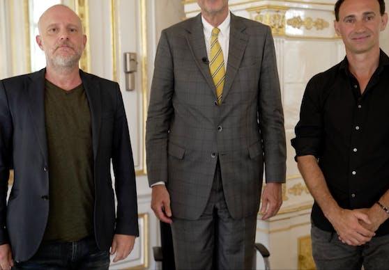Wahre Größe: der Minister mit Grissemann und Kulis