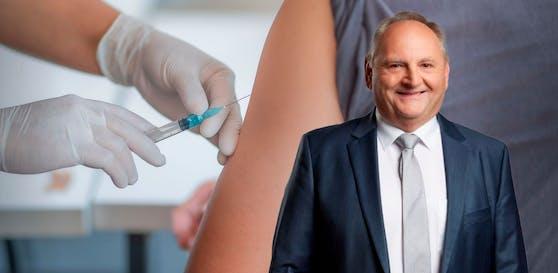 Goldwörths Bürgermeister Johann Müllner ist stolz, dass sich so viele Gemeindebürger schon impfen haben lassen.