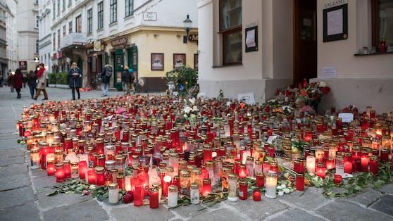 Gedenkstätte für die Opfer des Terroranschlags vom 02. November 2020 in der Wiener Innenstadt