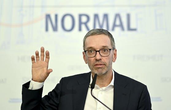 Herbert Kickl hat überraschend eine Pressekonferenz einberufen.