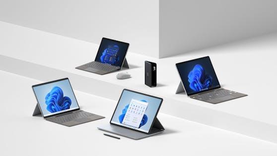 Microsoft stellt neues Surface Portfolio für Windows 11 vor.