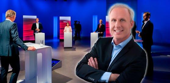 """Roman Braun analysierte für """"Heute"""" die Spitzenkandidaten der Landtagswahl."""