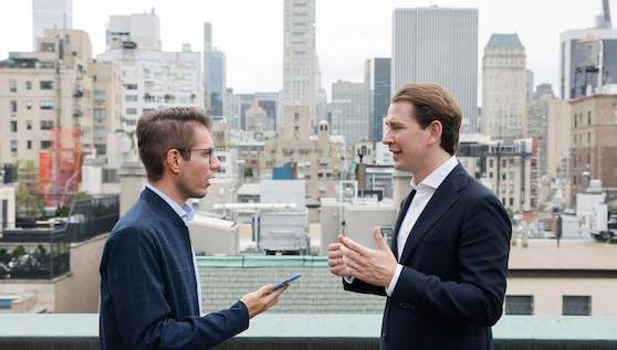 Interview in New York: Kanzler Kurz mit Heute.at-Chef Oistric