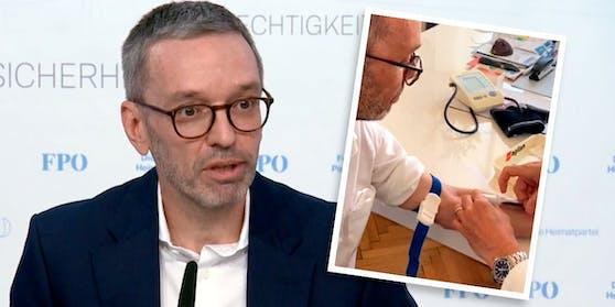 """FPÖ-Chef Herbert Kickl gab am Freitag eine """"persönlichen Erklärung"""" zu seinem Impfstatus ab."""
