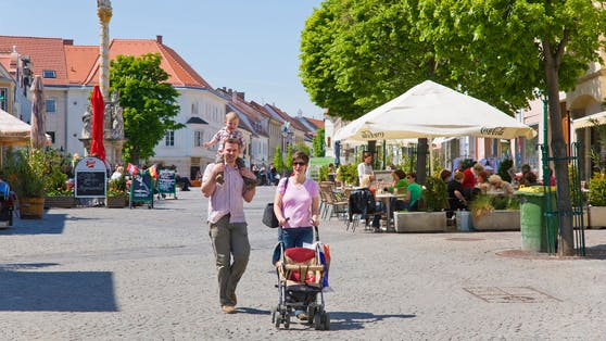 67,7 Prozent der Burgenländer (im Bild: Eisenstadt) sind bereits vollimmunisiert. Dahinter folgen NÖ, die Steiermark und Wien.
