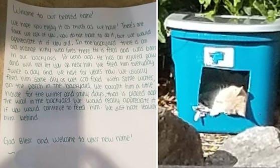 Nach ihrem Umzug fand eine junge Familie einen rührenden Brief der Vorbesitzer.