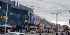 Brand in Zentrum Simmering – komplette Mall evakuiert