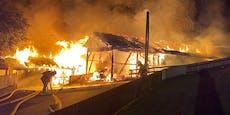 Großbrand in Stanz – auch Wohnhaus in Flammen