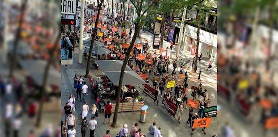 Am Samstag marschierten Tierschützer durch Wien.