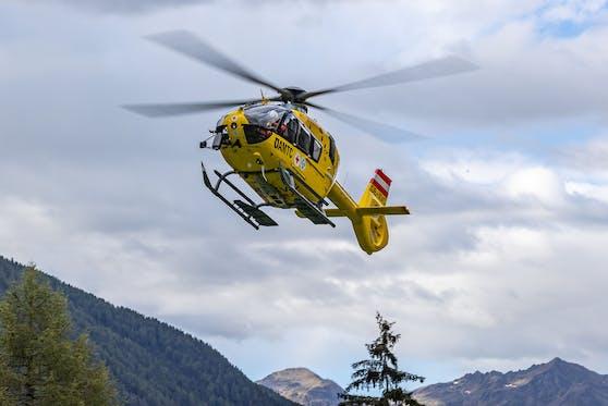 Ein Christophorus musste den Verunglückten ins Spital fliegen. Symbolbild