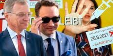 Wahl-Beben in OÖ: Stelzer vorn, Impf-Gegner im Landtag