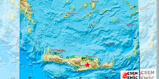 Erdbeben erschütterte Kreta am Montag in der Früh