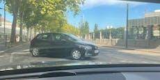 Geisterfahrer am Gürtel – VW fährt in falsche Richtung