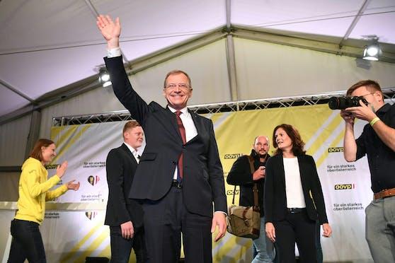 Der oberösterreichische Landeshauptmann Thomas Stelzer wurde bei der Landtagswahl erneut Wahlsieger.