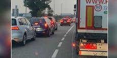 Unfall auf A22 legt Frühverkehr in Richtung Wien lahm