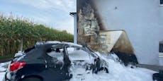 Pensionist startet Auto, plötzlich steht es in Flammen