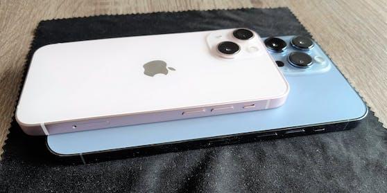Von 5,4 Zoll beim iPhone 13 mini bis hin zu 6,7 Zoll beim iPhone 13 Pro Max reicht die Größenordnung.