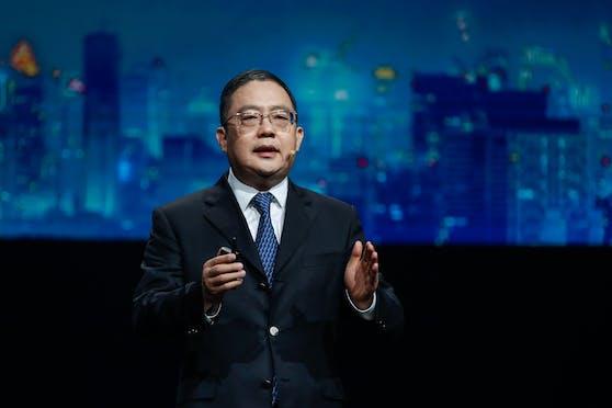 Peng Zhongyang, Vorstandsmitglied von Huawei und Präsident der Enterprise Business Group.