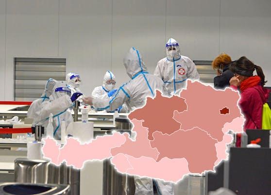Österreich-Karte: So viele haben in deiner Heimat gerade Corona.