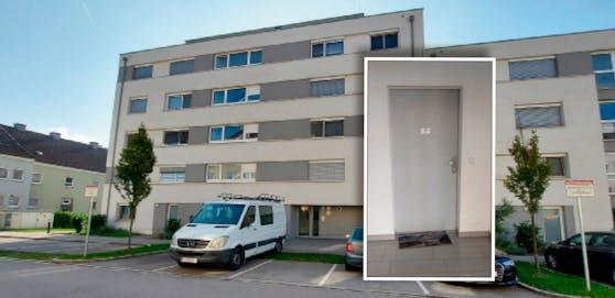 Hinter dieser Tür eines Mehrparteienhauses in Linz starb die Mutter bei der Geburt.