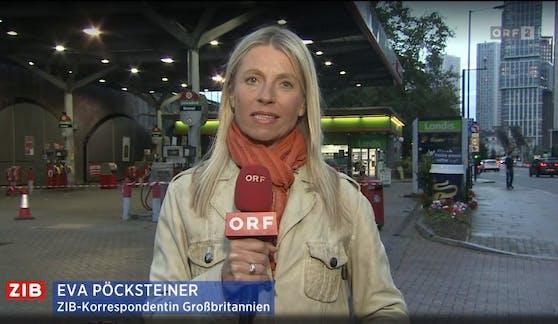 ZIB-Korrespondentin Eva Pöcksteiner live aus London