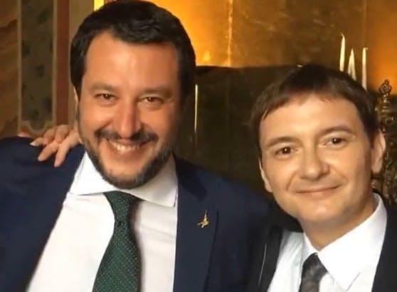 Matteo Salvini mit seinem Social-Media-Chef Luca Morisi