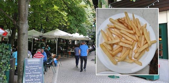 """So sieht eine """"Portion"""" Pommes im Lokal aus – Kostenpunkt 4 Euro"""