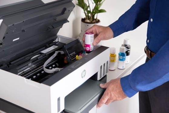HP stellt die intelligenten HP Smart Tank-Drucker vor.