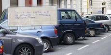 Wiener wüst beschimpft, weil er Auto über Linie parkte