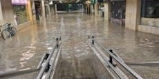 """Ljubljana unter Wasser – """"Passiert 1 Mal in 250 Jahren"""""""