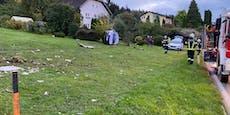 Lenker ohne Gurt fliegt nach Unfall 15 Meter durch Luft