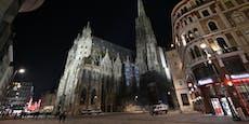 So leer und dunkel war's am Silvesterabend in Wien