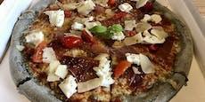 Diese Pizza war schon vorher schwarz