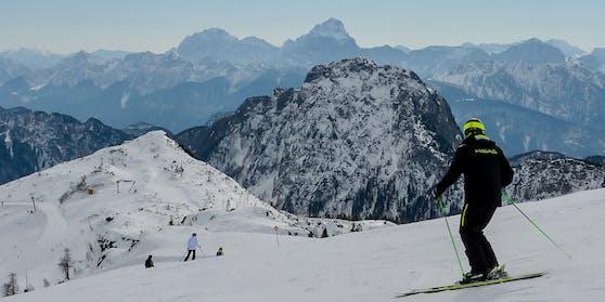 Das Nassfelder Skigebiet bei besserer Sicht