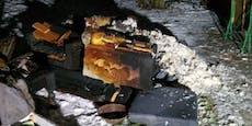 Christbaum explodiert: Ehepaar schwer verletzt