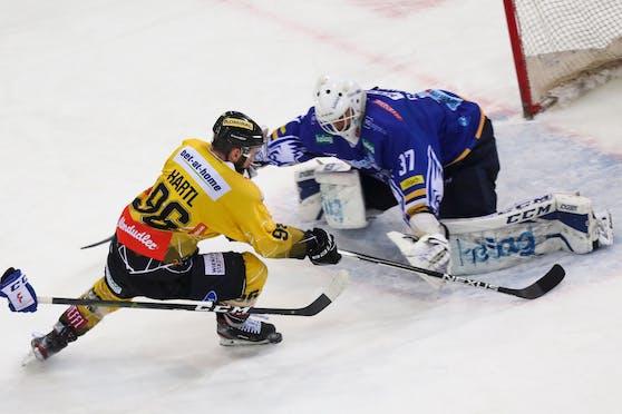 VSV-Goalie Kristers Gudlevskis brachte die Caps zur Verzweiflung.