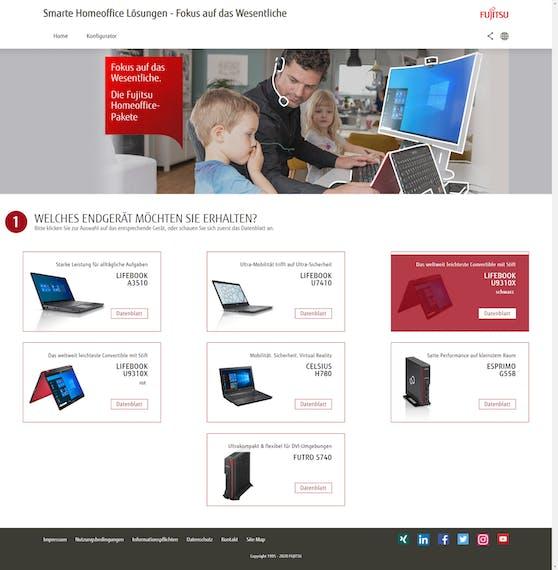 Fujitsu Homeoffice Konfigurator: Maßgeschneiderte Lösungen für effektives Arbeiten zuhause.