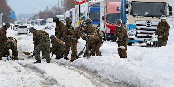 Heftige Schneefälle in Japan.