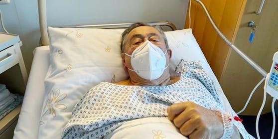 Richard Lugner im Spital.