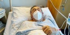 Richard Lugner lässt sich im Spital gegen Corona impfen