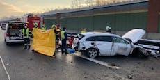 Unfall auf A1 bei St. Pölten fordert Schwerverletzten