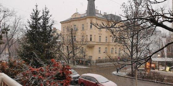 Am späten Nachmittag hat es in Wien zu schneien begonnen.