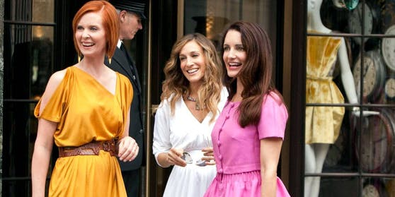 "Szenenbild ""Sex and the City 2"": Cynthia Nixon, Sarah Jessica Parker, Kristin Davis"